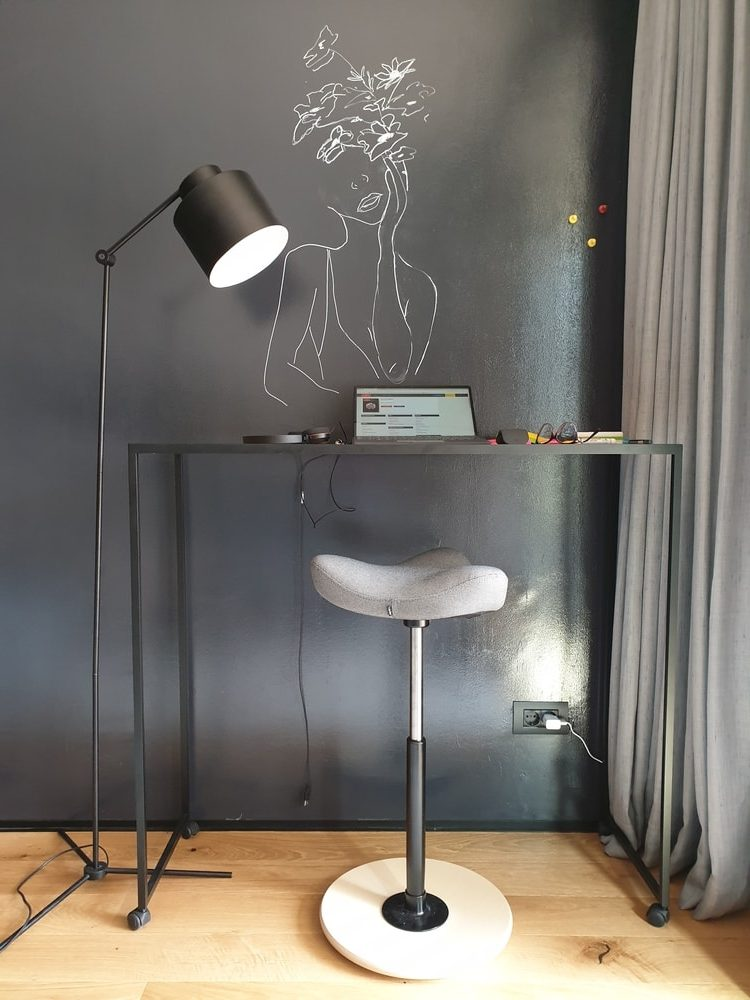 Dark Grey Black Writable Wall 1 Rotated