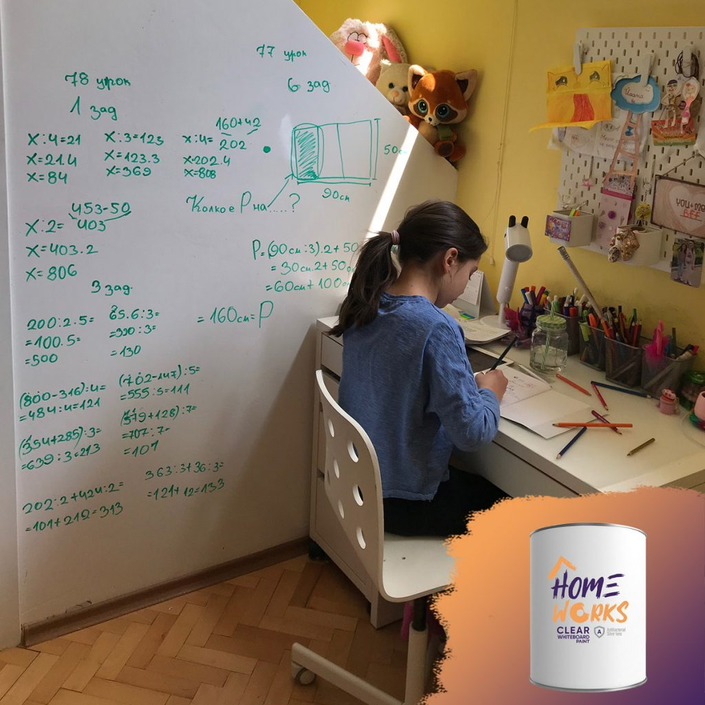 Home Works Clear Writable Paint Kids Room Furniture