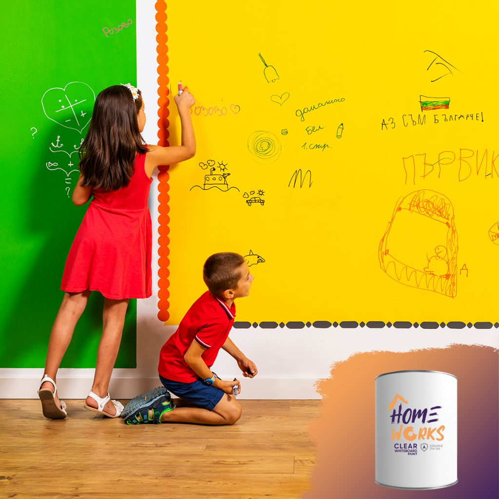 Home Works Clear Writable Paint Wall