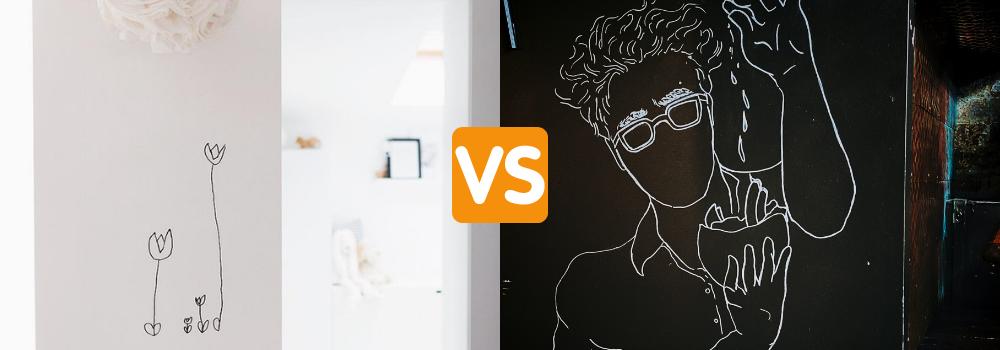 Whiteboard vs Chalkboard