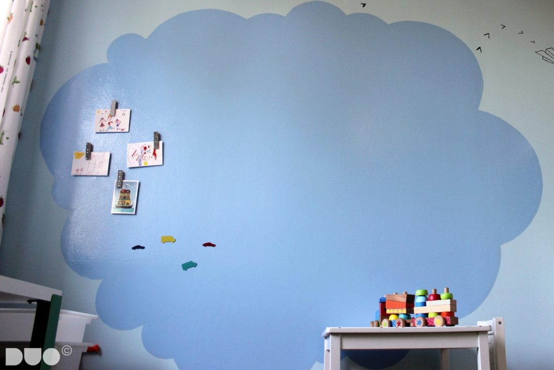 Childs room magnetic board