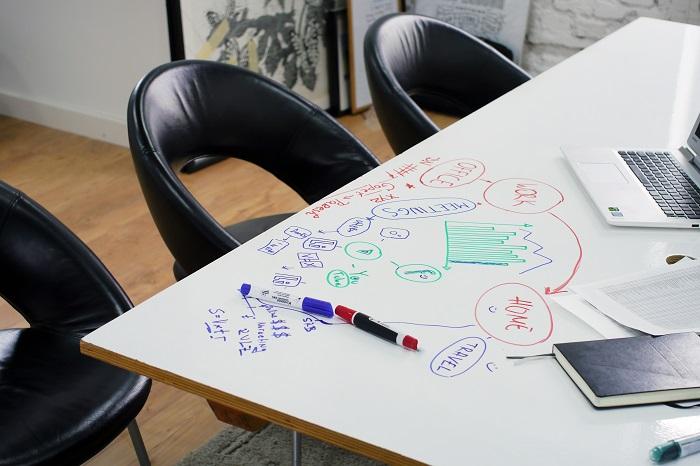 dezvolti creativitatea angajatilor vopsea escreo pe birou